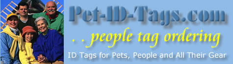 Necklace ID tags from Pet-ID-Tags.com